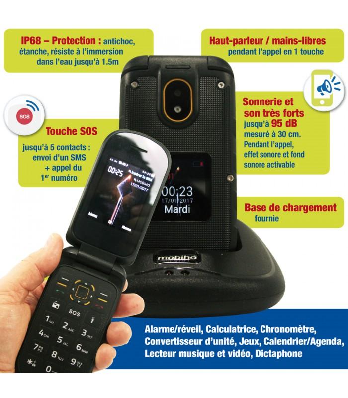 ... antichoc double Sim  telephone portable senior son tres forts ... d65e832328a