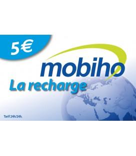 RECHARGE MOBIHO 5€