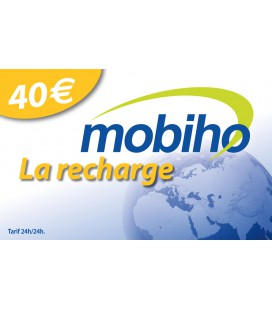 RECHARGE MOBIHO 40€