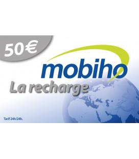 RECHARGE MOBIHO 50€