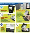Smartphone simple pour senior avec pochette