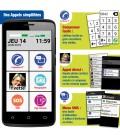 Smartphone simple avec appels simplifiées