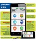 Smartphone toute utilisation senior dynamique