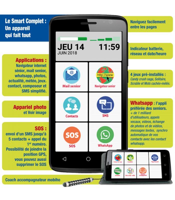Smartphone toute utilisation senior facile  Smartphone toute utilisation  senior dynamique ... 2c12e767bba7