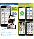 Smartphone toute utilisation interface modulable