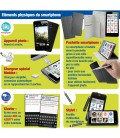 Smartphone senior avec pochette multi-positions