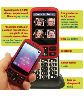 telephone senior coulissant tres grand ecran