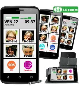 Smartphone senior pratique pour malvoyant