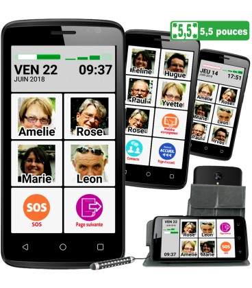 Smartphone senior facile pour malvoyant