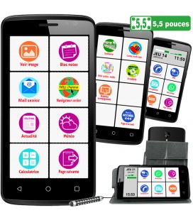 Smartphone toute utilisation senior facile