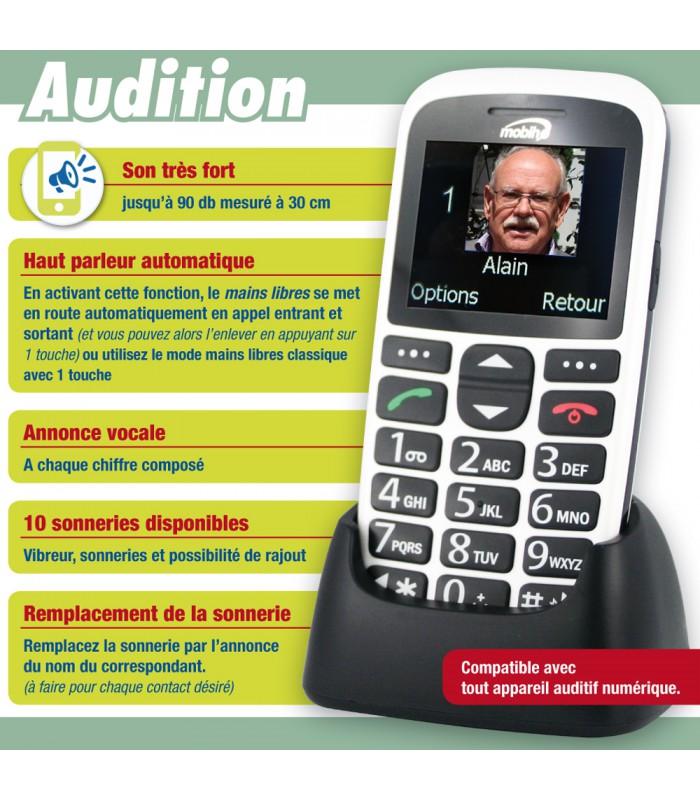 meilleur telephone personne agée handicap  meilleur telephone pour handicap  audition ... a1289931da8e