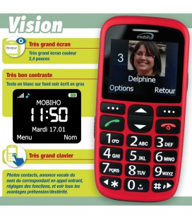 Mobile senior pour handicap vision