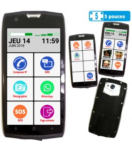 Smartphone solide simple senior ip68