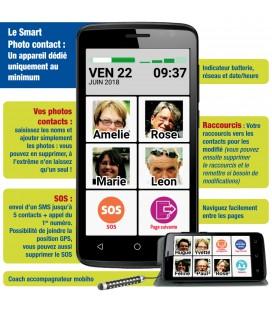 Smartphone senior facile appel sos