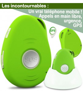 telephone portable mobile senior gps simplifié