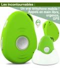 telephone portable mobile senior gps simplifié
