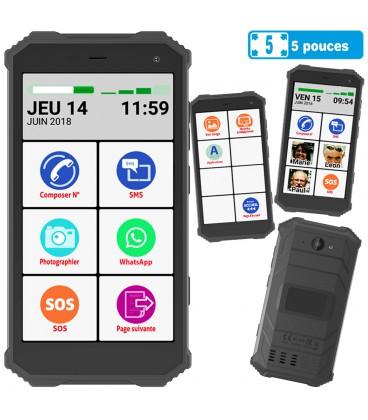Smartphone solide facile senior ip68