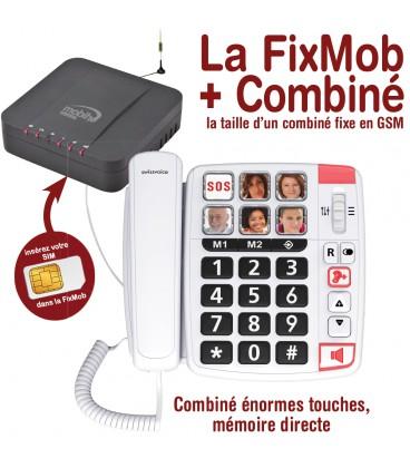 La FixMob + Combiné Swisvoice xtra 1110