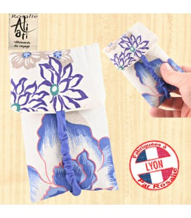 Pochette rosalie bleue fleur