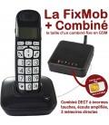 La FixMob + Combiné DECT Noir 68
