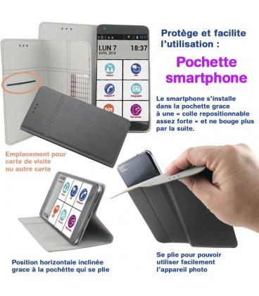Pochette smartphone taille jusqu'à 4,5 pouces
