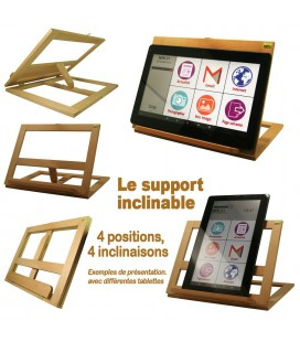 tablette personne agee support multiposition