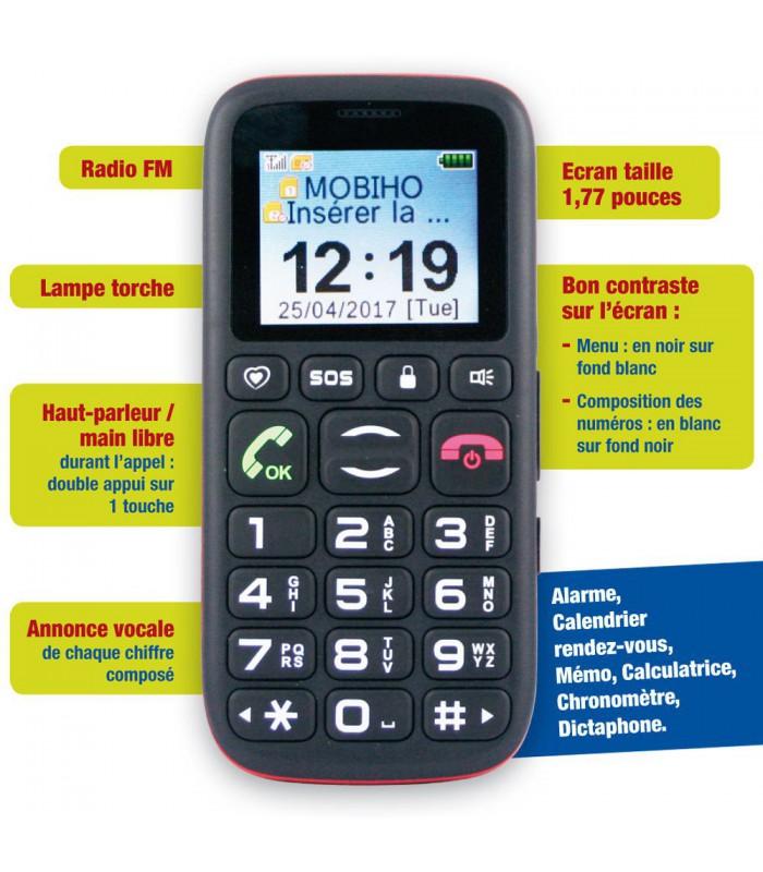 telephone portable senior simple pour faire l 39 essentiel. Black Bedroom Furniture Sets. Home Design Ideas