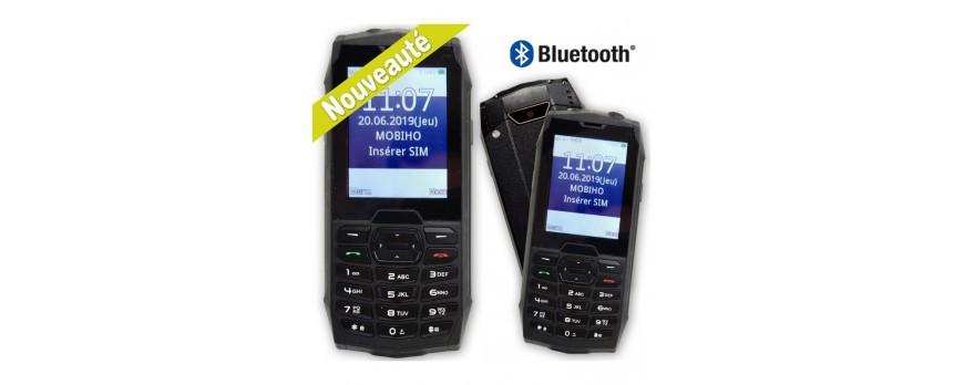 Téléphone portable incassable et résistant adapté aux seniors.